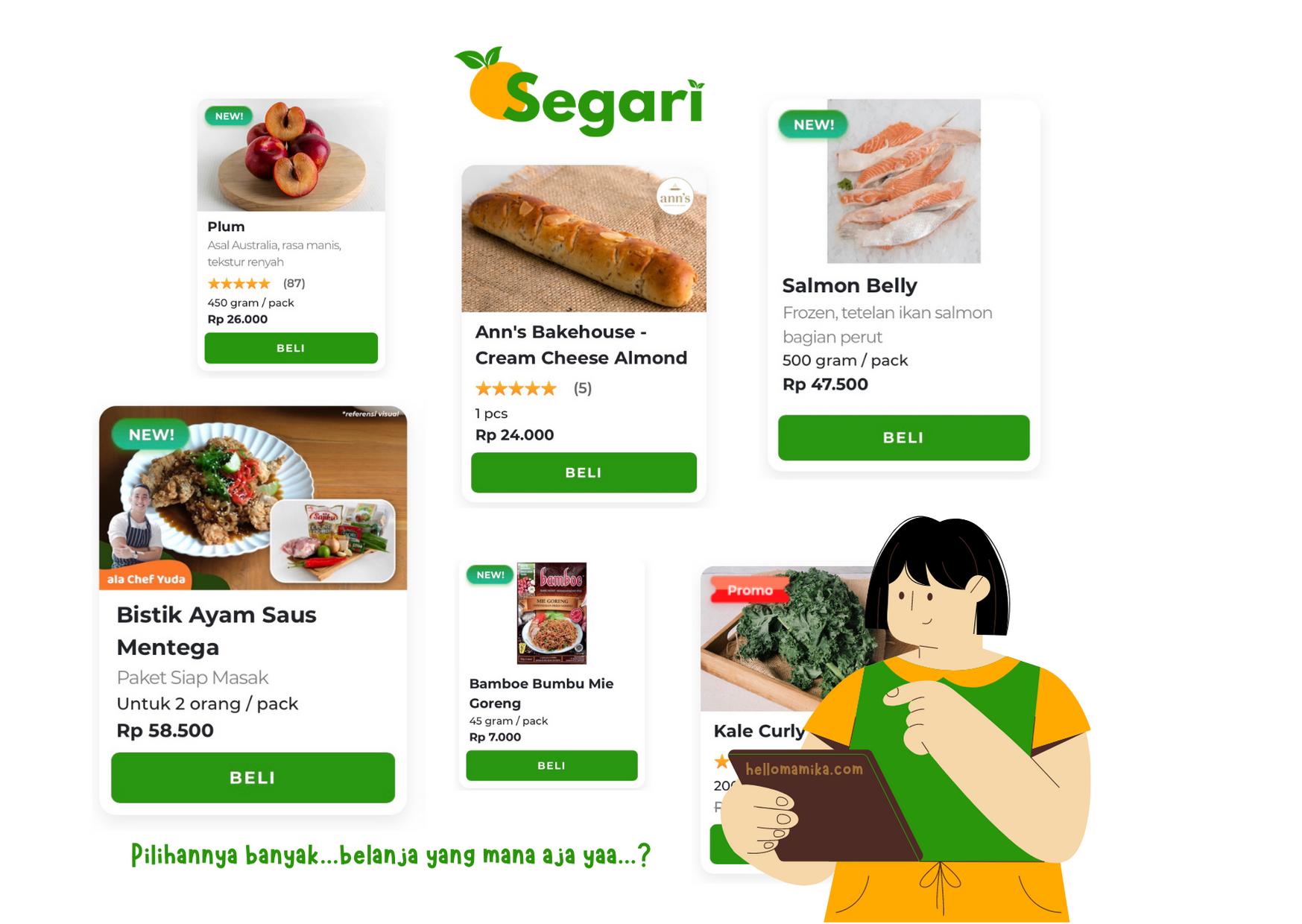 Review sayur online segari
